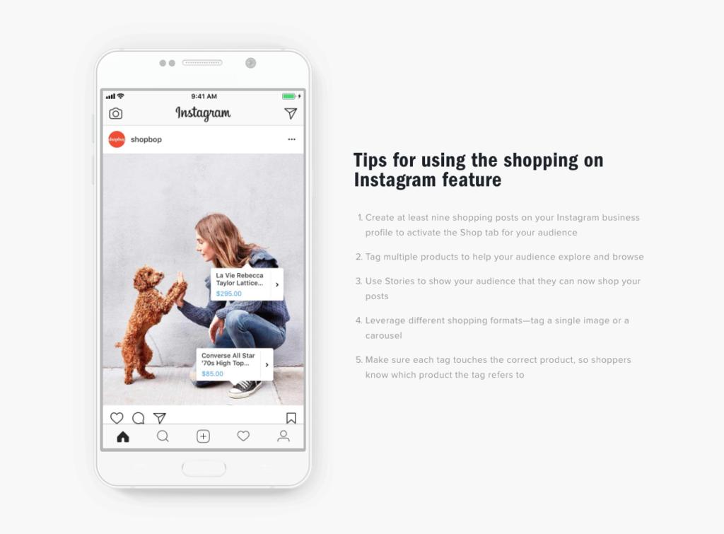 Instagramのシームレスなショッピング機能、ShopNow